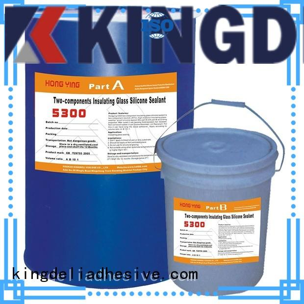 KINGDELI component black silicone sealant customized for glass insulating