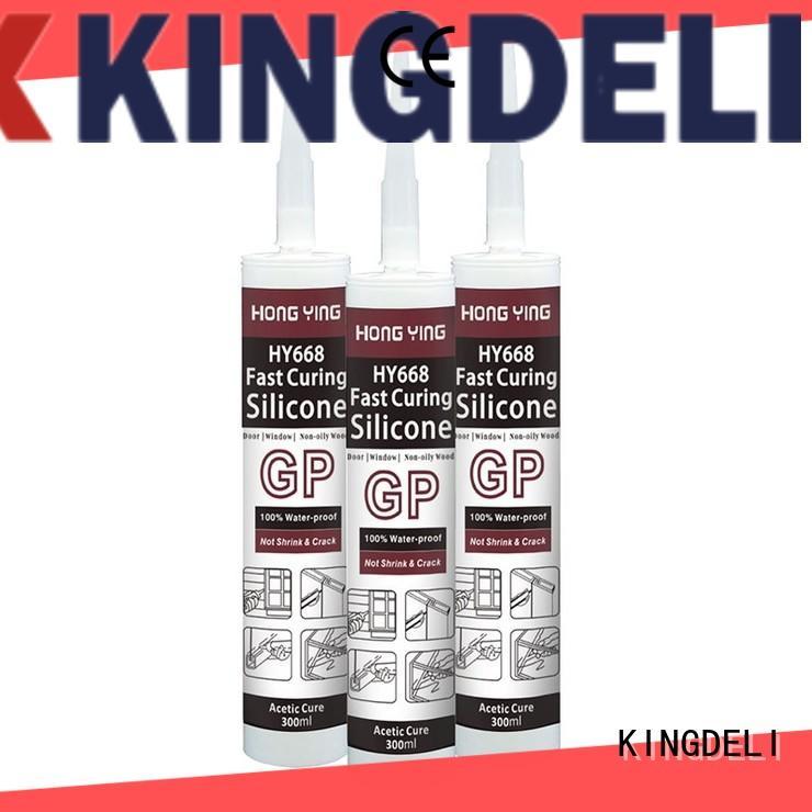 silicone sealant companies mirror for door glazing. KINGDELI